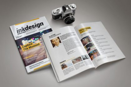 inkdesign magazine free template download