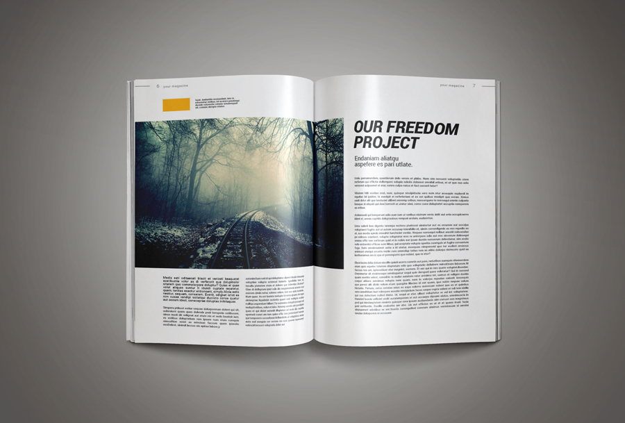 Inkdesign magazine template pixelo for E magazine templates free download