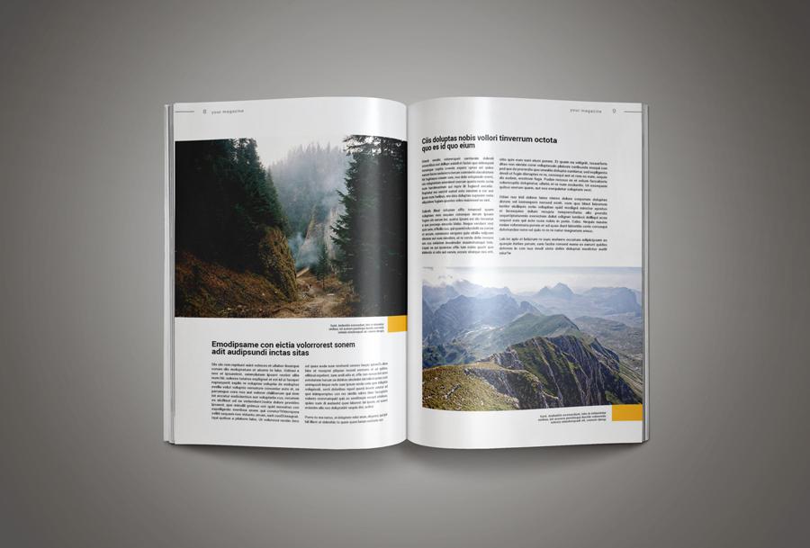 inkdesign magazine free template download