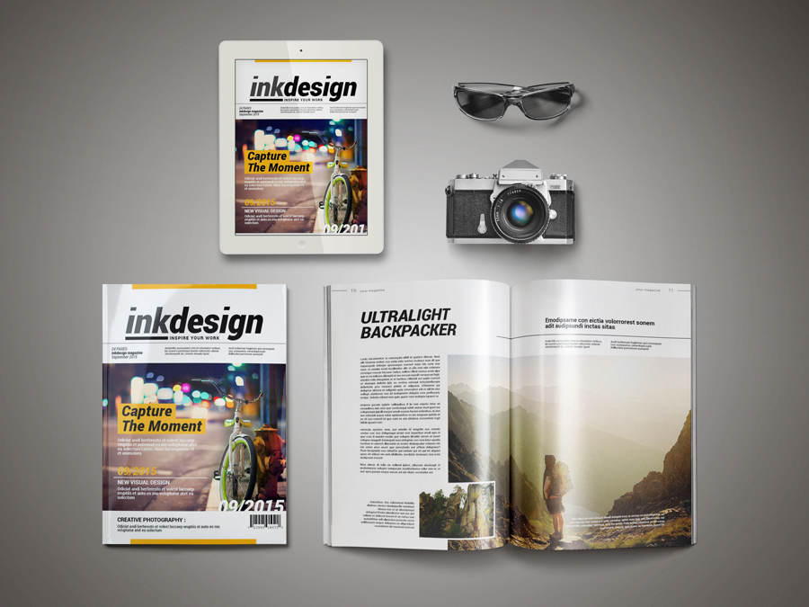 InkDesign Magazine Template | Pixelo