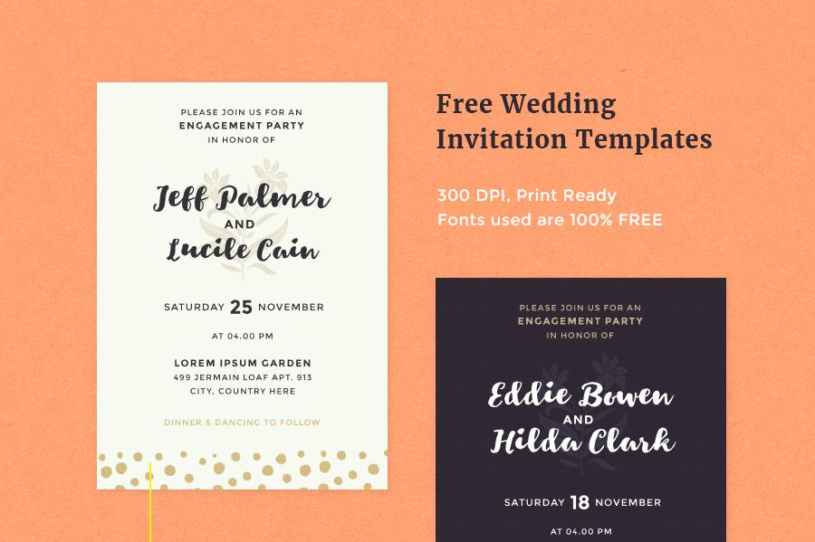 Free Wedding Invitation Templates | Pixelo