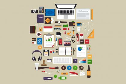 flat workspace tools vector