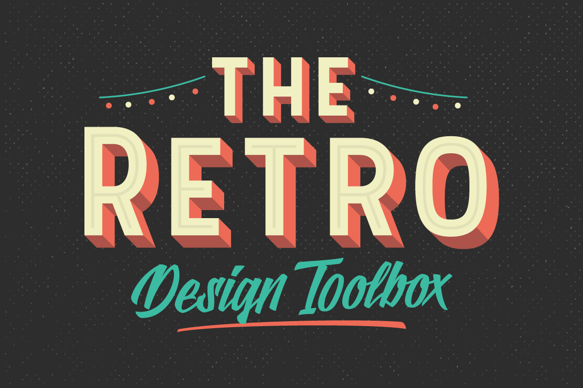 The Retro Design Toolbox: 62 fonts and 1147 Graphics only ...