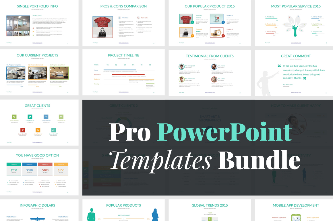 pro powerpoint templates bundle only 9 82 off pixelo