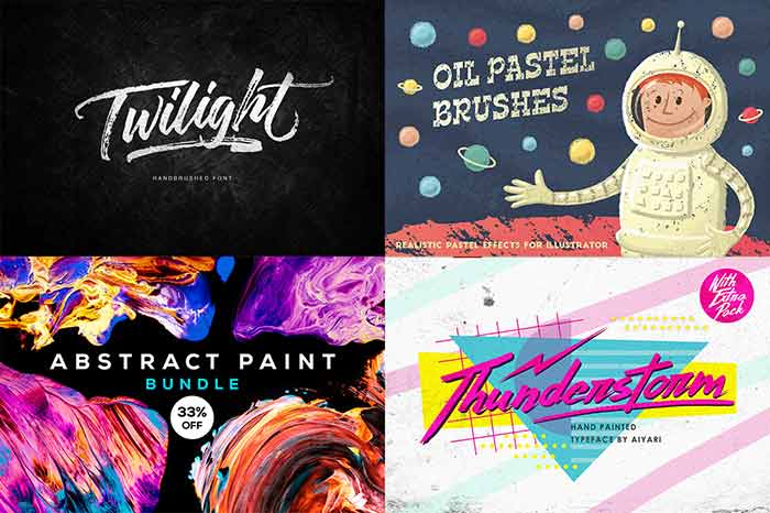 Creative Designers Toolkit 25 Fonts 1273 Graphics Only 29