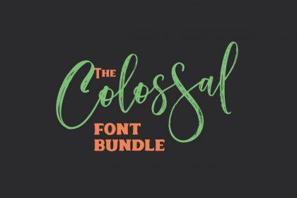 colossal font bundle