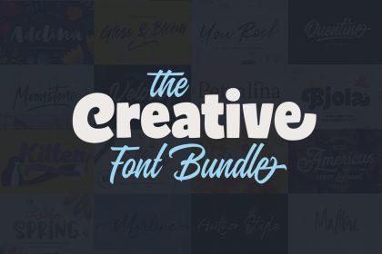 the creative font bundle: 25 best-selling fonts 99% off