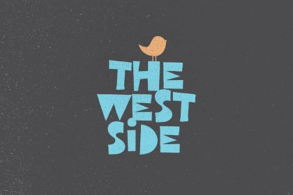 west side free font