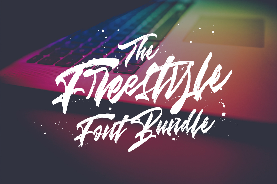 The Freestyle Font Bundle 5 Fonts By Dirtyline Studio Only 9