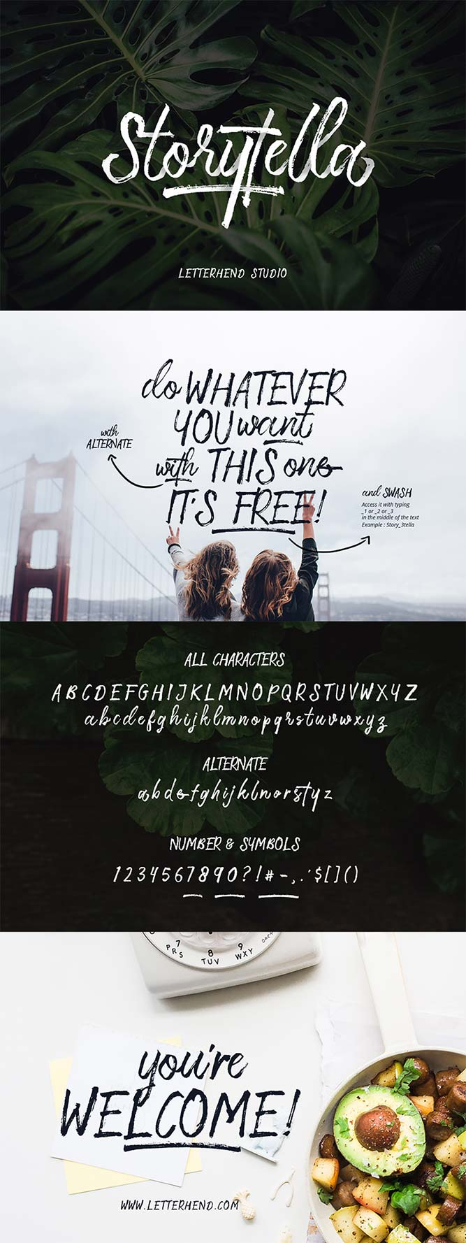 storytella free font download
