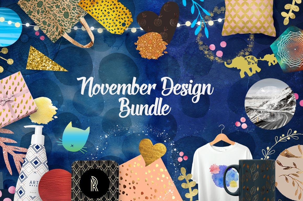 November Design Bundle: 3000+ Design Elements with Commercial License