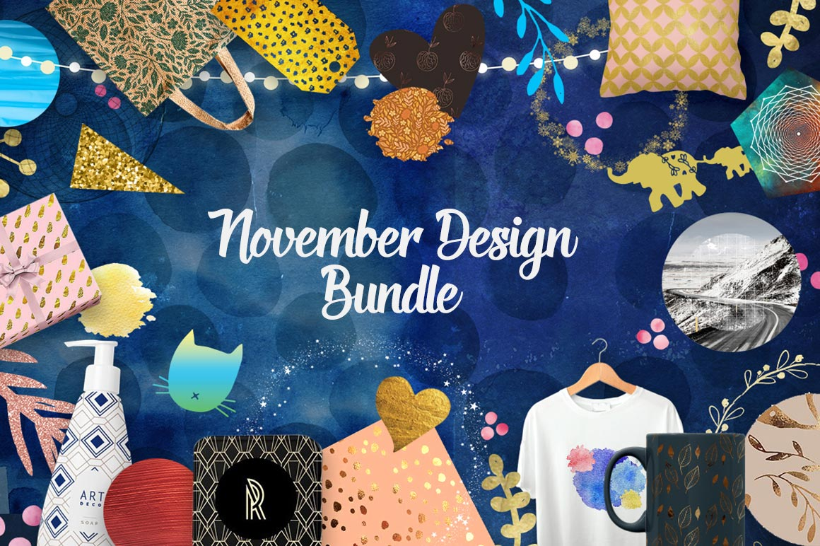 November Design Bundle: 3000+ Design Elements with Commercial License