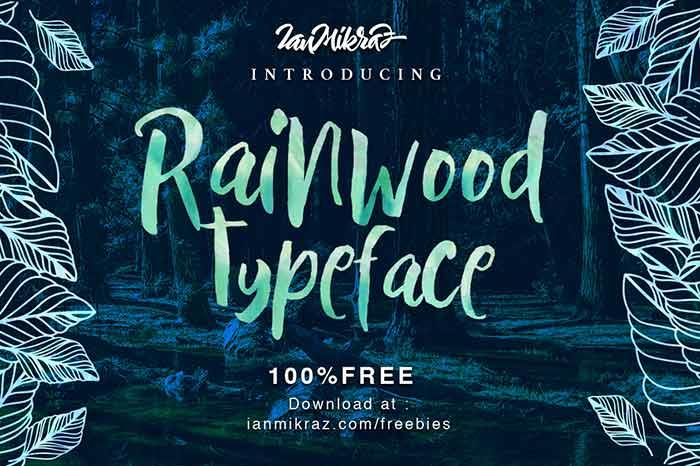 Rainwood free font