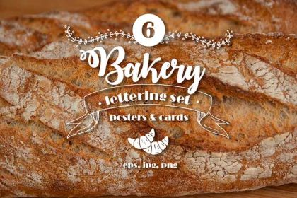 Free Bakery Lettering Posters