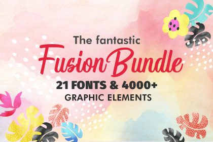 The Fantastic Fusion Bundle – 21 Fonts & 4000+ Graphic Elements