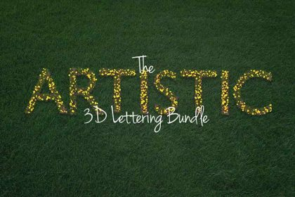 The Artistic 3D Lettering Bundle