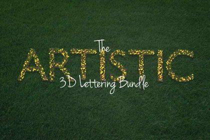 The Artistic 3D Lettering Bundle