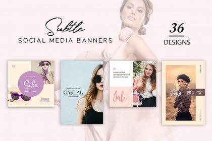 subtle social media banners