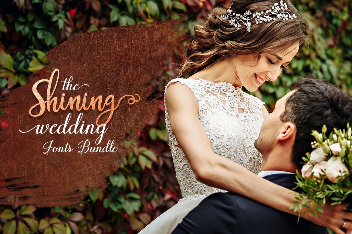 Shining Wedding Fonts Bundle