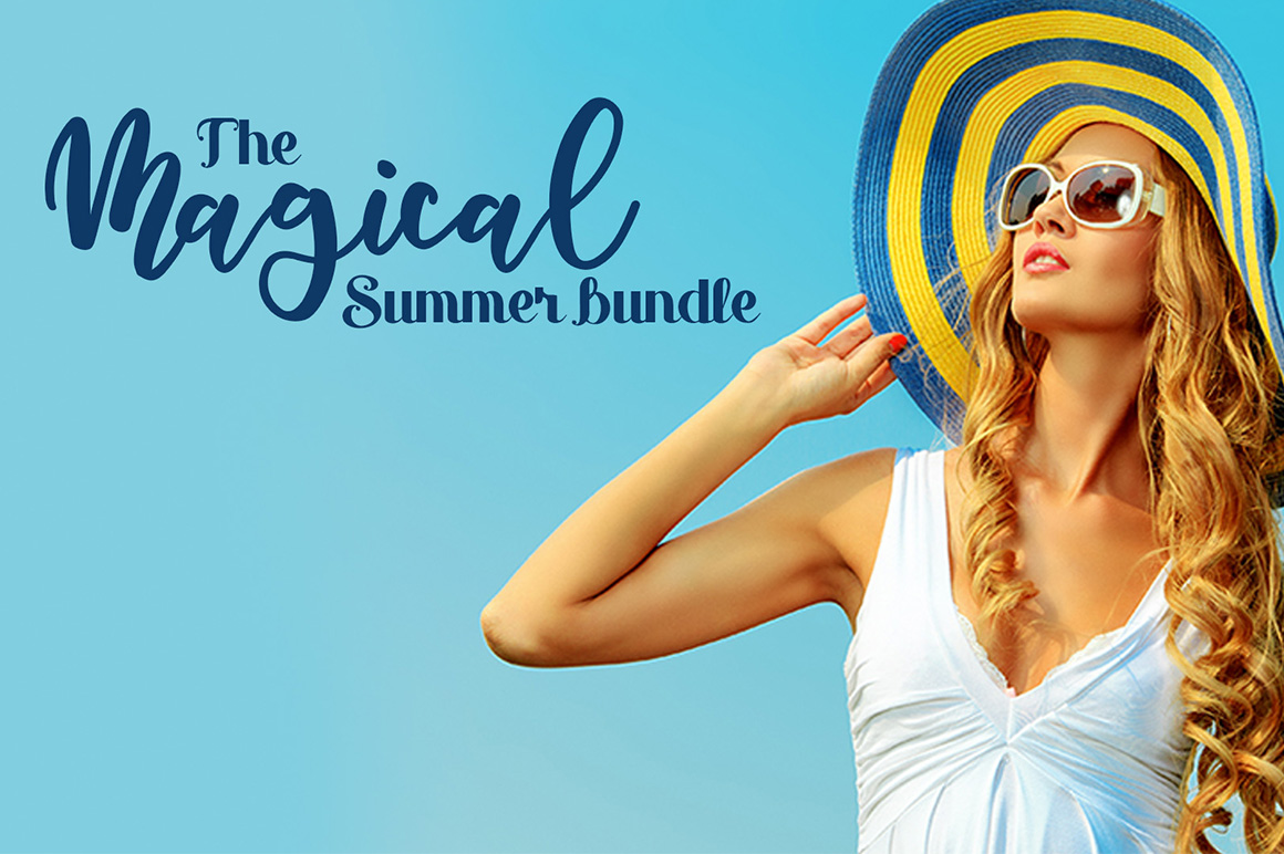 The Magical Summer Bundle 58 Font Families With 800 Designs