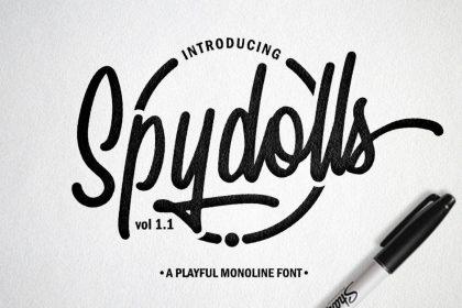 Spydolls free font