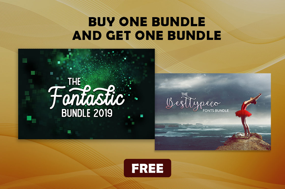 BOGO - Buy The Fontastic Bundle 2019 & Get The BestTypeCo Fonts Bundle  (Limited Time Offer)