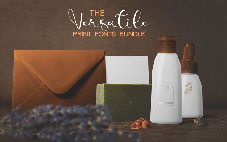 Print fonts bundle