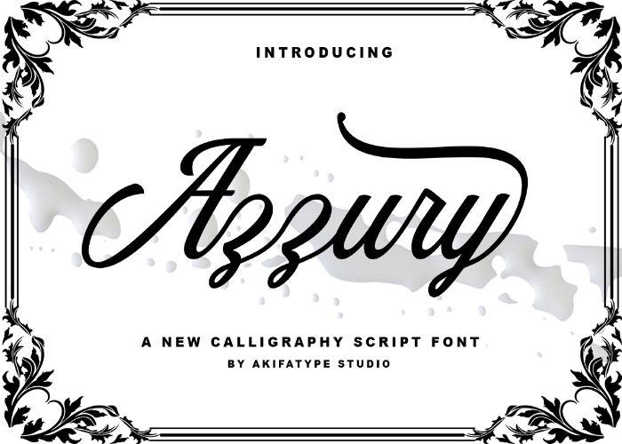 Azzury Script Font