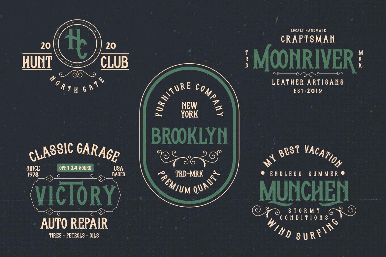 free vintage fonts