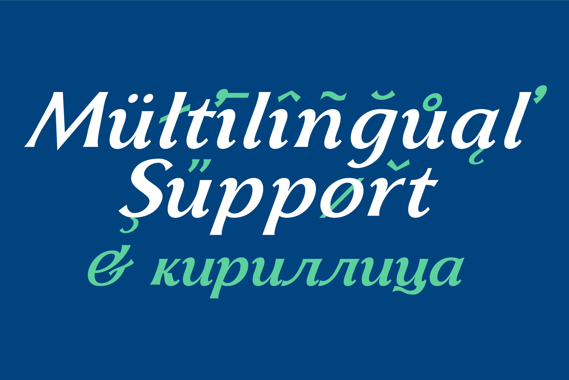 italic font