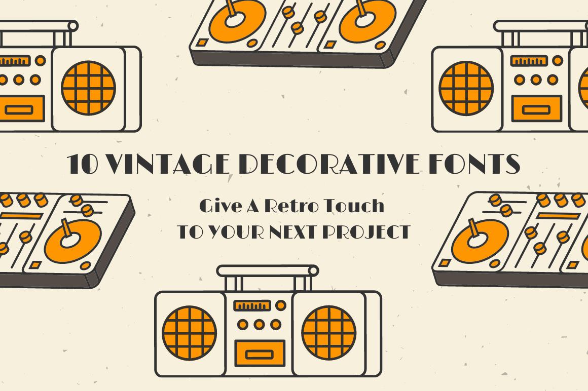 10 Vintage Decorative Fonts