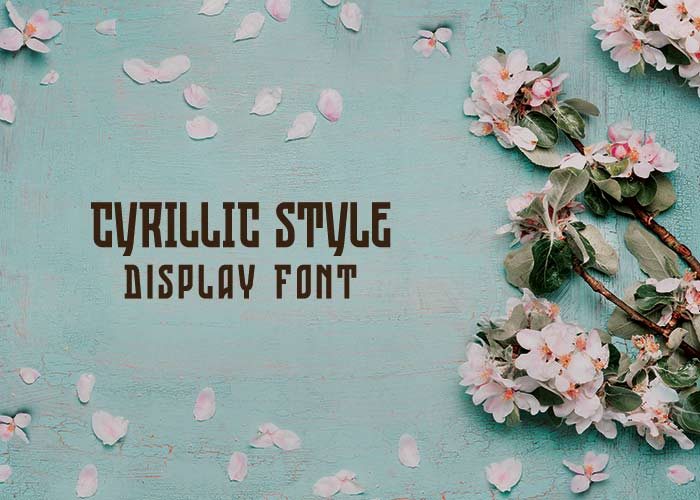 cyrillic style display font
