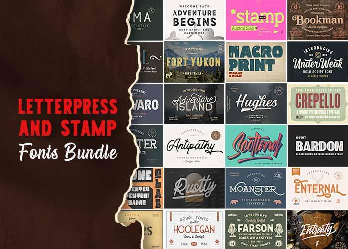 Letterpress Stamp Fonts