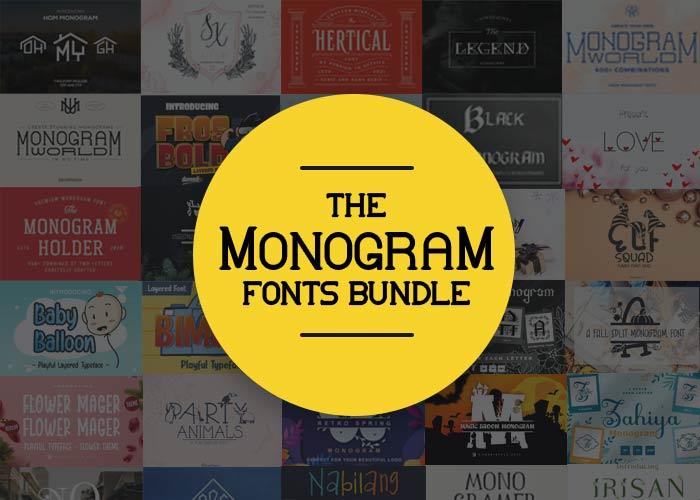 monogram fonts bundle featured image