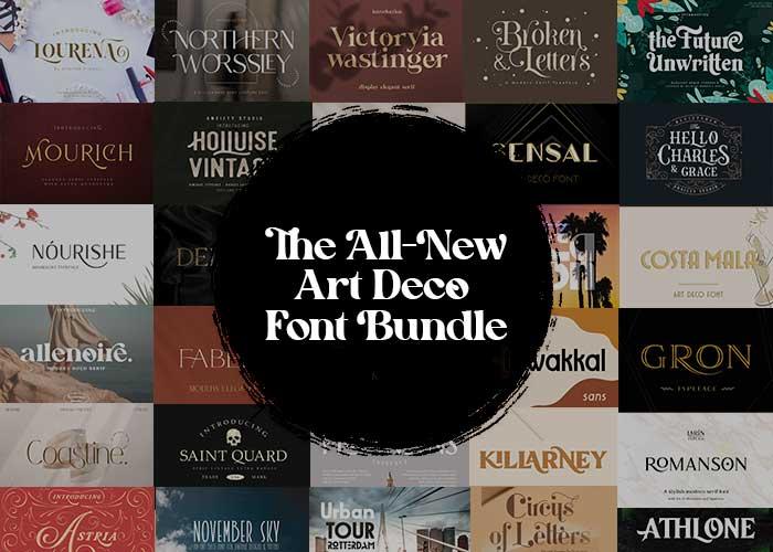 The All-New Art Deco Font Bundle